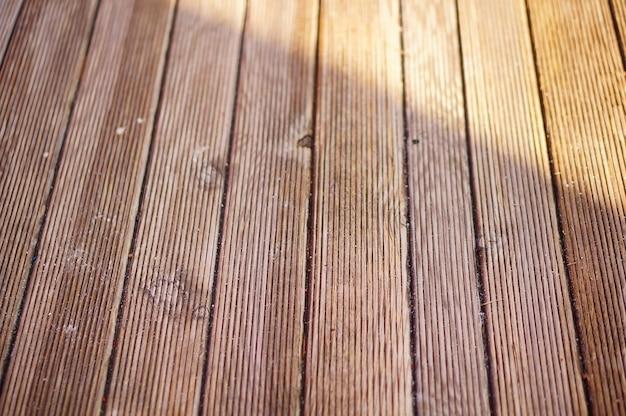 Strzał zbliżenie drewniana ławka