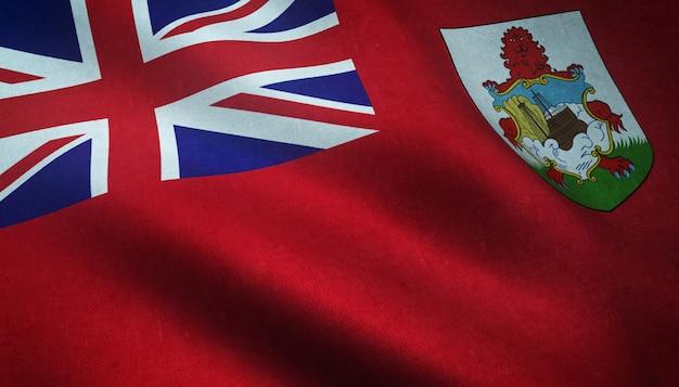 Strzał zbliżenie flagi bermudów