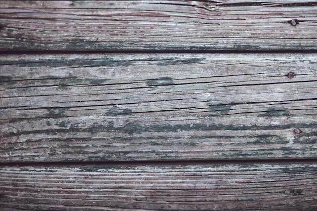 Strzał zbliżenie wyblakły drewna - tło