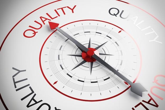 Strzałka kompasu wskazująca jakość słowa