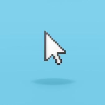Strzałka wskaźnik myszy piksele na niebieskim tle