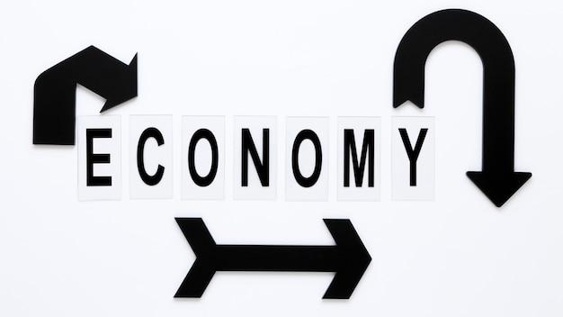Strzałki reprezentujące ekonomię
