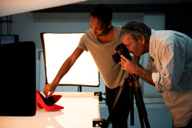 Strzelaj z butów do fotografii produktów