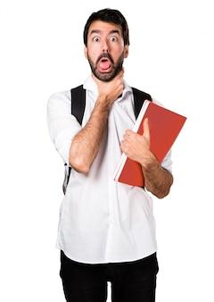 Student człowiek tonący się