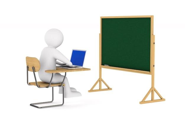 Student. izolowane renderowanie 3d
