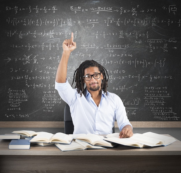 Student ma rozwiązanie problemu matematycznego