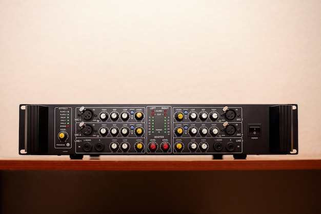 Studio audio wzmacniacza muzyki