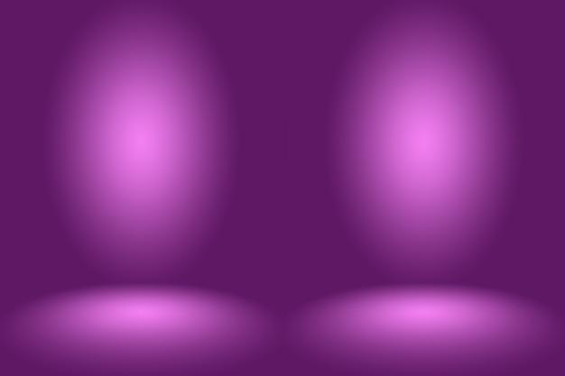 Studio background concept - ciemny gradient fioletowy pokój studio tła dla produktu.