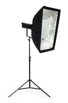 Studio oświetlenie na białym tle