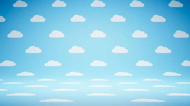 Studio wzór pusty pusty kształt chmury