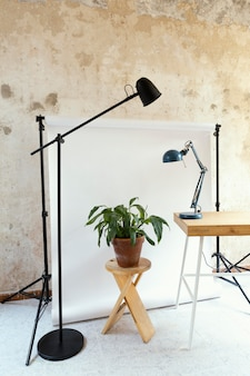Studio z rekwizytami do fotografii