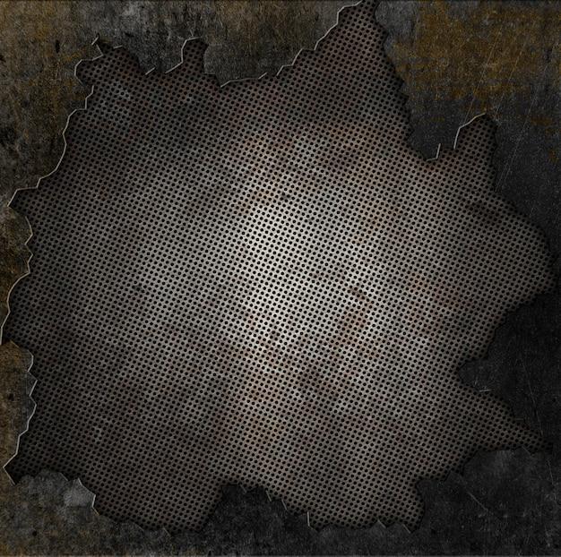 Styl grunge zardzewiały metal i kamień tle