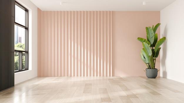 Styl memphis koncepcyjne wnętrze pusty pokój 3 d ilustracja