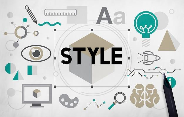 Styl modny projekt kreatywna koncepcja