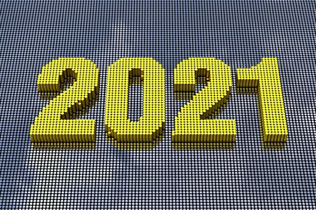Styl pixel art 2021. renderowanie 3d