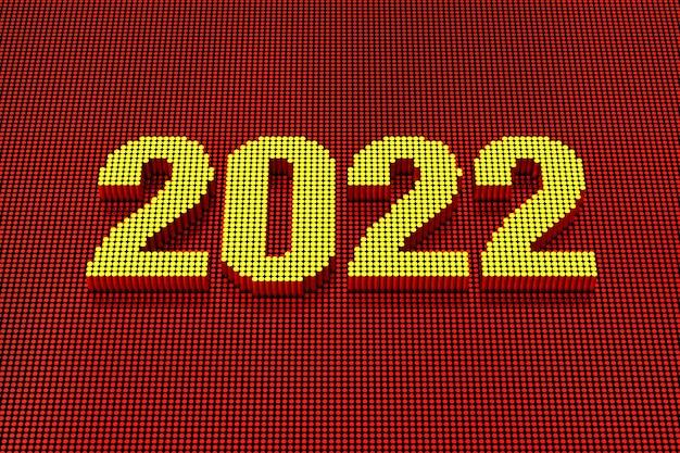 Styl pixel art 2022. renderowanie 3d