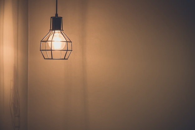 Styl vintage żarówek światłowodowych