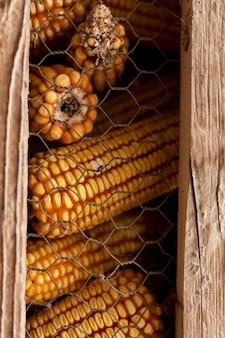 Styl życia na wsi w kolbach kukurydzy