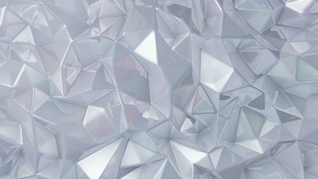 Stylowe białe tło kryształu. ilustracja, renderowanie 3d.
