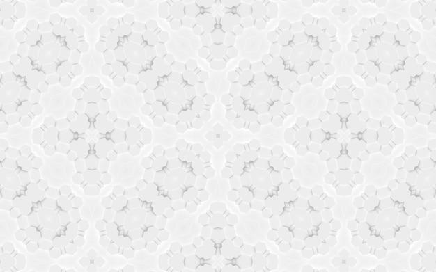 Stylowe białe tło z elementami geometrycznymi sześciokątne trójkątne abstrakcyjne kształty. wzór do projektu strony internetowej, layout, gotowa makieta