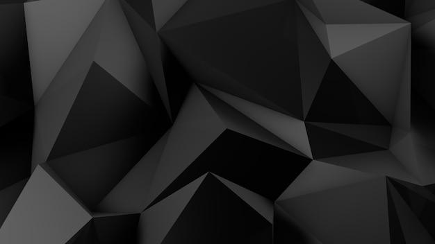 Stylowe czarne tło kryształu. ilustracja, renderowanie 3d.
