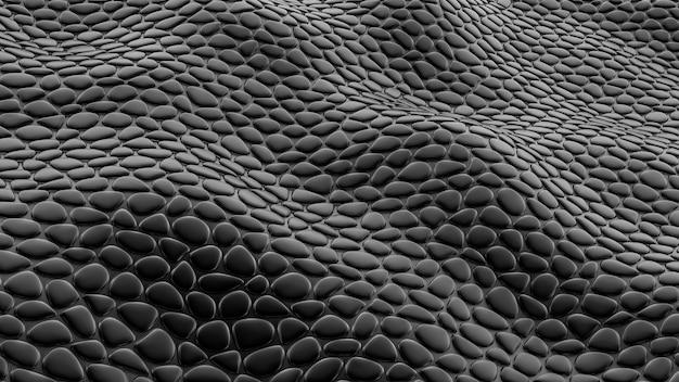 Stylowe czarne tło z fakturą skóry. ilustracja, renderowanie 3d.