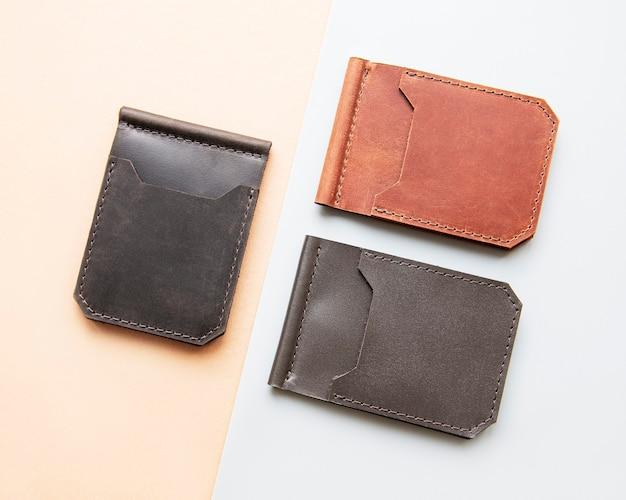 Stylowe skórzane portfele