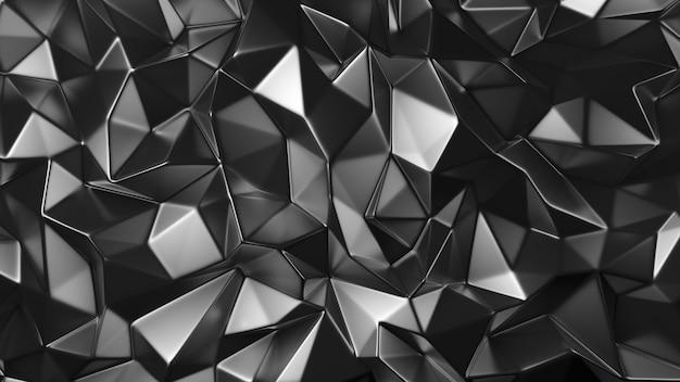 Stylowe szare tło kryształu. ilustracja, renderowanie 3d.