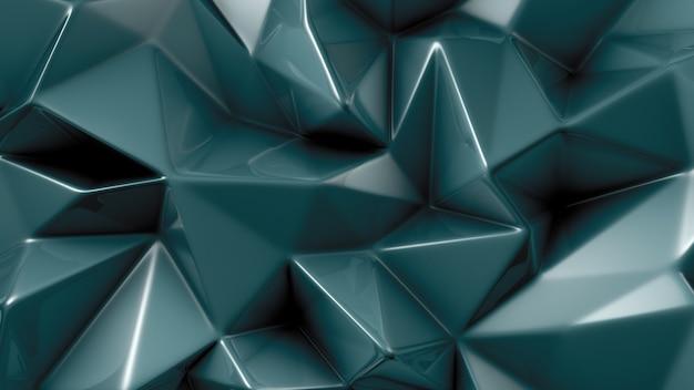Stylowe tło zielony kryształ. ilustracja, renderowanie 3d.