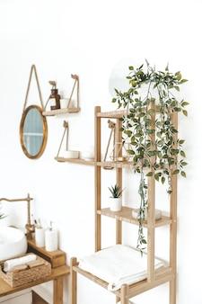 Stylowe wnętrze łazienki koncepcja mieszkania przyjaznego środowisku