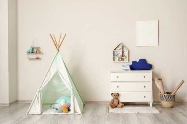 Stylowe wnętrze pokoju dziecięcego