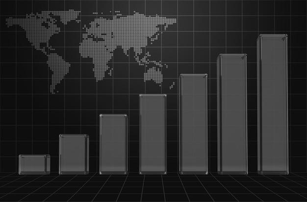 Stylowy biznes tło wykresu
