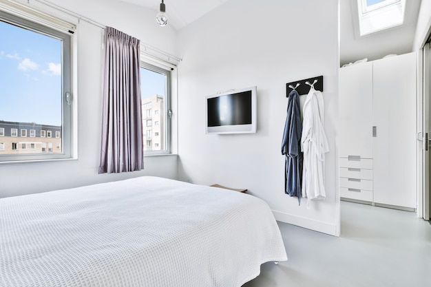 Stylowy projekt sypialni