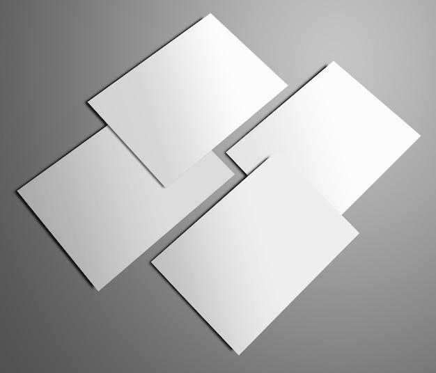 Stylowy szablon z pustymi czterema broszurami a4 a5 bifold na szarym tle