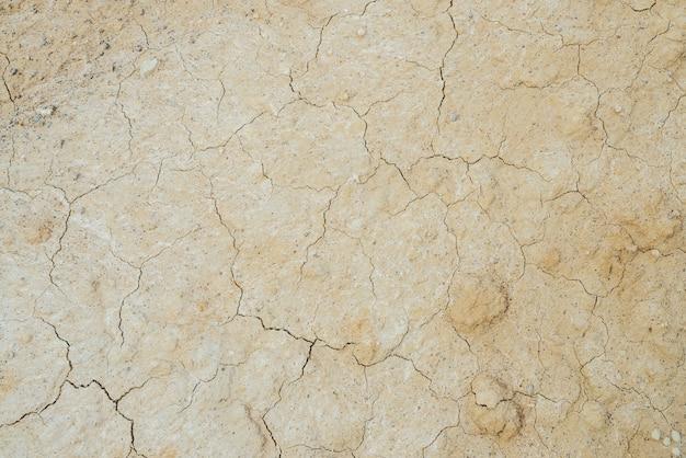Sucha popękana gleba.