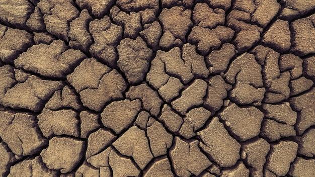 Suche popękane tło tekstury gleby