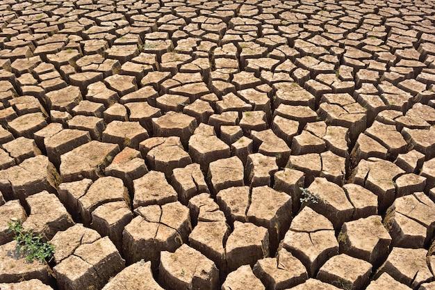 Suchy krakingowy ziemski tło