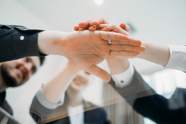 Sukces biznesowy. osiągnięcia w pracy zespołowej