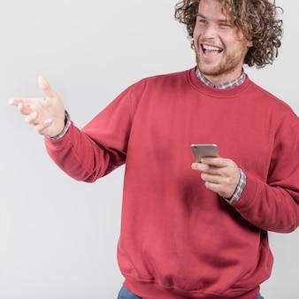 Sukces koncepcji z człowiekiem i smartphone