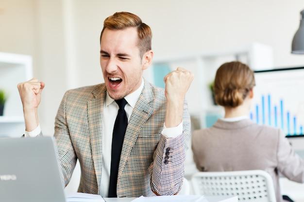 Sukces przedsiębiorcy w pracy