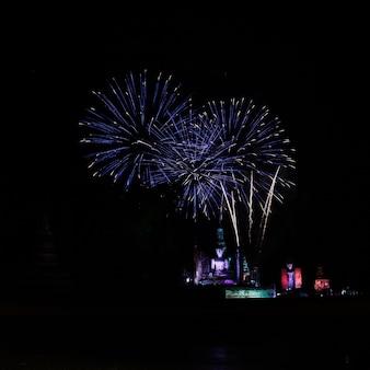 Sukhothai, tajlandia: pokaz świetlny i dźwiękowy