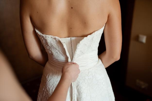 Sukienka panny młodej.