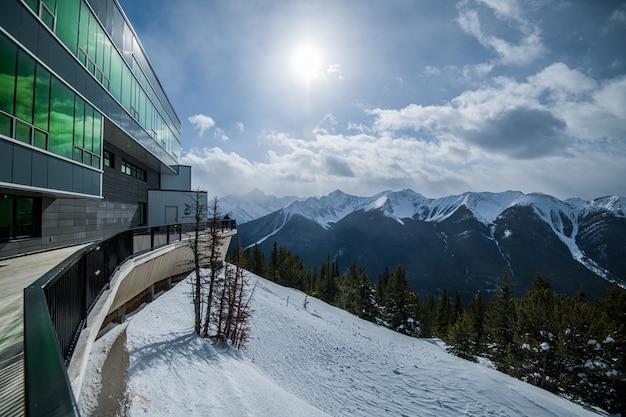 Sulpher mountain w banff, alberta w kanadzie