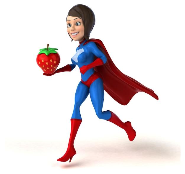 Super kobieta ilustracja