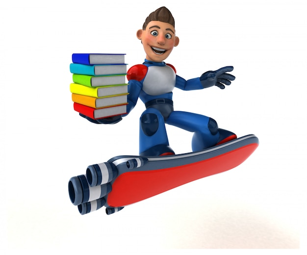 Super nowoczesny superbohater - ilustracja 3d