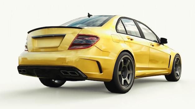 Super szybki złoty samochód sportowy