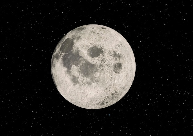 Super zoom księżyca w pełni