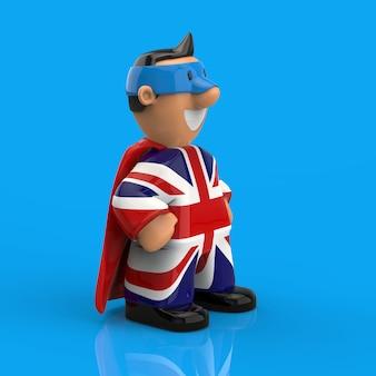 Superbohatera pojęcie - 3d ilustracja