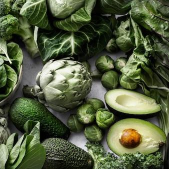 Superfood z zielonymi warzywami