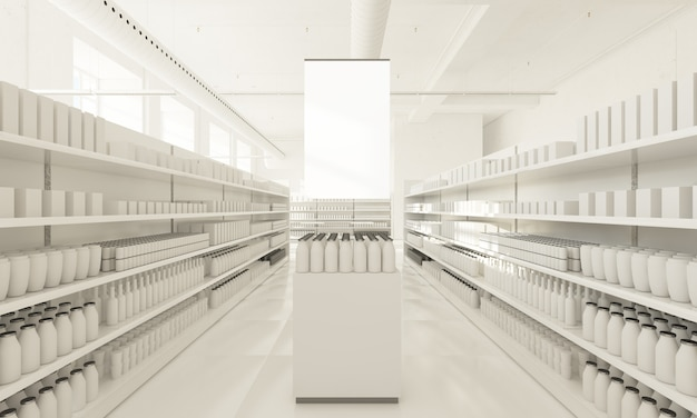 Supermarket lokowania produktu